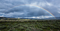 Rainbow over Antelope flats, Grand Teton National Park, Wyoming