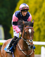 Last Enchantment ridden by Edward Greatrex goes down to the start of The British Stallion Studs EBF Margadale Fillies' Handicap during Afternoon Racing at Salisbury Racecourse on 12th June 2018