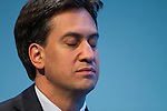 © Joel Goodman - 07973 332324 . 22/09/2013 . Brighton , UK . ED MILIBAND listens during the Welsh Report session this afternoon (Sunday 22nd September 2013) . Day 1 of the Labour Party 's annual conference in Brighton . Photo credit : Joel Goodman