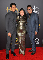 LOS ANGELES, CA. November 04, 2018: Harry Shum Jr., Awkwafina &amp; Nico Santos  at the 22nd Annual Hollywood Film Awards at the Beverly Hilton Hotel.<br /> Picture: Paul Smith/FeatureflashLOS ANGELES, CA. November 04, 2018: Wendy Starland at the 22nd Annual Hollywood Film Awards at the Beverly Hilton Hotel.<br /> Picture: Paul Smith/FeatureflashLOS ANGELES, CA. November 04, 2018: Harry Shum Jr., Rachel Chu &amp; Nico Santos at the 22nd Annual Hollywood Film Awards at the Beverly Hilton Hotel.<br /> Picture: Paul Smith/Featureflash