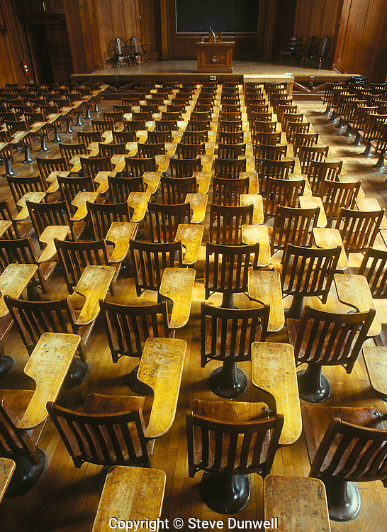 Classroom old seats, Yale University, New Haven, CT