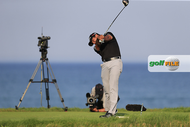 Jason DAY (AUS) tees off the 18th tee during Sunday's Final Round of the 97th US PGA Championship 2015 held at Whistling Straits, Mosel, Kohler, Wisconsin, United States of America. 16/08/2015.<br /> Picture Eoin Clarke, www.golffile.ie