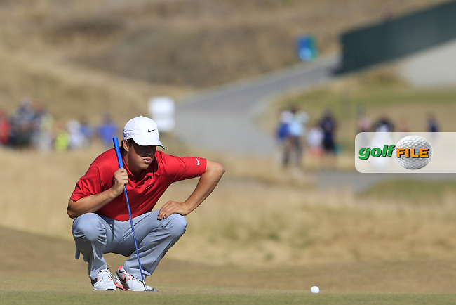 Cody Gribble (USA) on the 5th green during Friday's Round 2 of the 2015 U.S. Open 115th National Championship held at Chambers Bay, Seattle, Washington, USA. 6/20/2015.<br /> Picture: Golffile | Eoin Clarke<br /> <br /> <br /> <br /> <br /> All photo usage must carry mandatory copyright credit (&copy; Golffile | Eoin Clarke)
