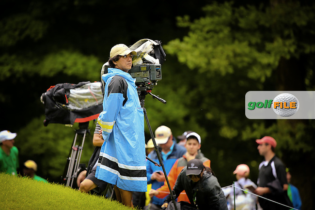 11 JUL 15  Japanese Camera Operator Sugawara San of NHK during Saturday's Third Round of the John Deere Classic at The TPC Deere Run in Silvis, Ill. (photo credit : kenneth e. dennis/kendennisphoto.com)