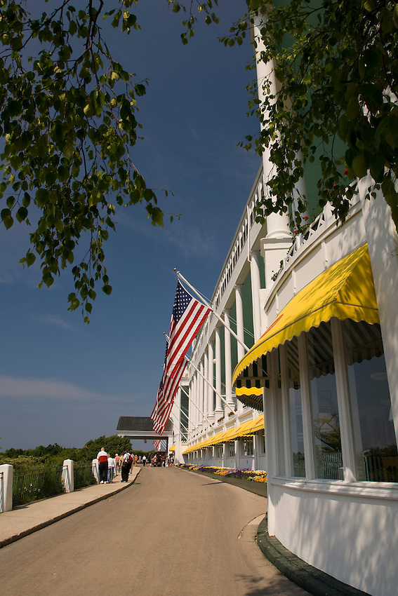 The Grand Hotel on Mackinac Island in Michigan.