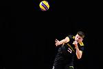 13.09.2019, Paleis 12, BrŸssel / Bruessel<br />Volleyball, Europameisterschaft, Deutschland (GER) vs. Serbien (SRB)<br /><br />Aufschlag / Service Ruben Schott (#3 GER)<br /><br />  Foto © nordphoto / Kurth