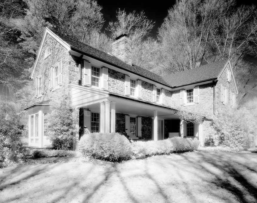 Infrared image of a stone house. Pennsylvania.