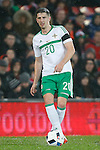 Craig Cathcart of Northern Ireland during the international friendly match at the Cardiff City Stadium. Photo credit should read: Philip Oldham/Sportimage