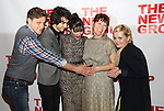 "Joe Tippett, Alex Wolff, Isabelle Fuhrman, Erica Schmidt and Abigail Breslin attends the Opening Night of The New Group World Premiere of ""All The Fine Boys"" at the The Green Fig Urban Eatery on March 1, 2017 in New York City."