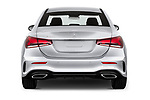 Straight rear view of 2019 Mercedes Benz A-Class - 4 Door Sedan Rear View  stock images