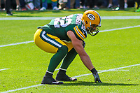 Green Bay Packers fullback Aaron Ripkowski (22) during a National Football League game against the Seattle Seahawks on September 10, 2017 at Lambeau Field in Green Bay, Wisconsin. Green Bay defeated Seattle 17-9. (Brad Krause/Krause Sports Photography)