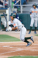 August 6, 2010: Boise Hawks' Kyung-Min Na (#9) at-bat during a Northwest League game against the Everett AquaSox at Everett Memorial Stadium in Everett, Washington.
