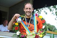 KAATSEN: LEEUWARDEN: 17-07-2016, Rengersdag, winnaars Taeke Triemstra, Daniël Isege, Gert-Anne van der Bos, ©foto Martin de Jong