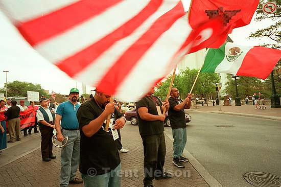 Cesar Chavez workers' rights parade.<br />