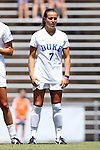 21 August 2016: Duke's Taylor Racioppi. The Duke University Blue Devils played the University of Central Florida Knights in a 2016 NCAA Division I Women's Soccer match. Duke won the game 3-1.