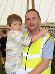 Wayne and Ethan Harding pictured at the Ladywell Fete at Slane Castle. Photo: Colin Bell/pressphotos.ie