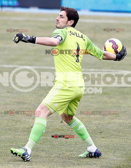 Real Madrid's Iker Casillas during La Liga match.January 18,2013. (ALTERPHOTOS/Acero) /NortePhoto<br /> NortePhoto.com