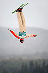 16 January 2009: Remi Belanger from Canada performs aerial acrobatics during the FIS Freestyle World Cup warm-ups at the Olympic Ski Jumping Facility in Lake Placid, NY, USA. Mandatory Photo Credit: Ed Wolfstein Photo. Contact: Ed Wolfstein, Burlington, Vermont, USA. Telephone 802-864-8334. e-mail: ed@wolfstein.net