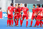 Japan team group (JPN), <br /> AUGUST 20, 2018 - Hockey : <br /> Men's Group A match <br /> between Japan 11-0 Sri Lanka <br /> at Gelora Bung Karno Hockey Field <br /> during the 2018 Jakarta Palembang Asian Games <br /> in Jakarta, Indonesia. <br /> (Photo by Naoki Morita/AFLO SPORT)