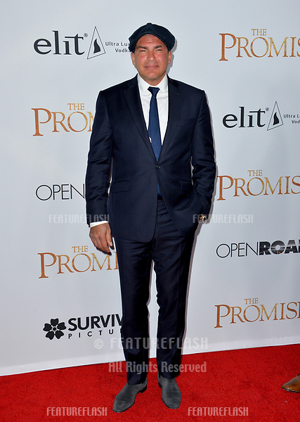 Tamer Hasson at the premiere for &quot;The Promise&quot; at the TCL Chinese Theatre, Hollywood. Los Angeles, USA 12 April  2017<br /> Picture: Paul Smith/Featureflash/SilverHub 0208 004 5359 sales@silverhubmedia.com