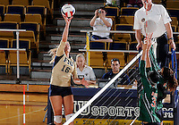 Florida International University women's volleyball player Jovana Bjelica (16) plays against Florida A&M University.  FIU won the match 3-0 on September 11, 2011 at Miami, Florida. .