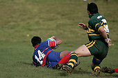 S. Petelo scores a early try for Ardmore Marist. Counties Manukau Premier McNamara Cup Semi Final rugby game between Pukekohe & Ardmore Marist, played at  Colin Lawrie Fields Pukekohe on 28th July 2007. Pukekohe won 30 - 10.