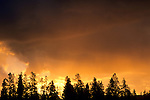 Stormy sunrise over the Grand Tetons and Snake River, Grand Teton Nat'l. Pk., WYOMING
