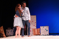 "Alejandro Albarracin and Esther Isla during theater play of ""Los desvarios del veraneo"" at Teatro Infanta Isabel in Madrid. July 19, 2016. (ALTERPHOTOS/Rodrigo Jimenez) NORTEPHOTO.COM"