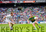 Barry John Keane, Kerry in action against Ciaran Fitzpatrick, Kildare in the All Ireland Quarter Final at Croke Park on Sunday.