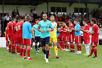 Welling players applaud the Charlton players onto the pitch after winning promotion to the Championship last season during Welling United vs Charlton Athletic, Friendly Match Football at the Park View Road Ground on 13th July 2019