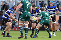 Will Vaughan of Bath Rugby in possession. Aviva Premiership match, between Bath Rugby and London Irish on May 5, 2018 at the Recreation Ground in Bath, England. Photo by: Patrick Khachfe / Onside Images