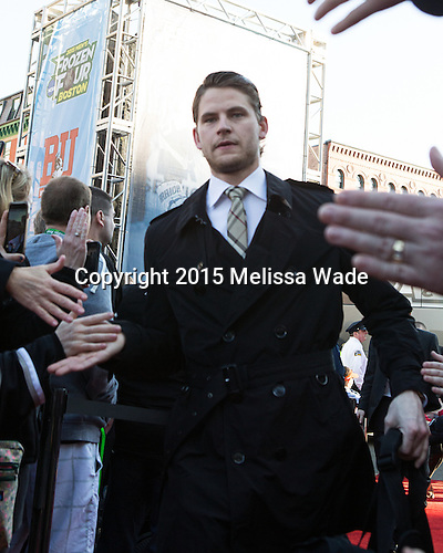 Brooks Behling (PC - 17) - The teams walked the red carpet through the Fan Fest outside TD Garden prior to the Frozen Four final on Saturday, April 11, 2015, in Boston, Massachusetts.