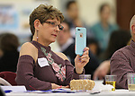 Heidi Ghan listens to a speaker at the annual Western Nevada College Foundation Scholarship Appreciation &amp; Recognition Celebration in Carson City, Nev., on Friday, March 9, 2018. <br /> Photo by Cathleen Allison/Nevada Momentum
