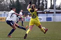 Ellie Noble of Oxford United Ladies and Bianca Baptiste of Tottenham Ladies during Tottenham Hotspur Ladies vs Oxford United Women, FA Women's Super League FA WSL2 Football at Theobalds Lane on 11th February 2018