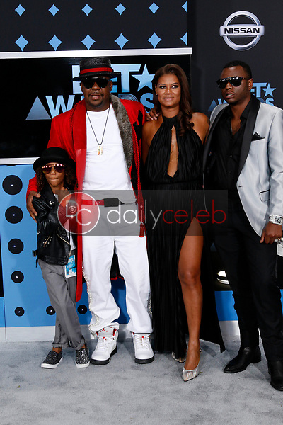 Cassius Brown, Bobby Brown, Alicia Etheredge, Bobby Brown Jr<br /> at the BET Awards 2017, Microsoft Theater, Los Angeles, CA 06-25-17<br /> David Edwards/DailyCeleb.com 818-249-4998