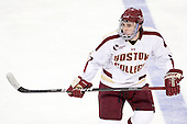 Edwin Shea (BC - 8) - The Boston College Eagles defeated the University of Massachusetts-Amherst Minutemen 3-2 to take their Hockey East Quarterfinal matchup in two games on Saturday, March 10, 2012, at Kelley Rink in Conte Forum in Chestnut Hill, Massachusetts.