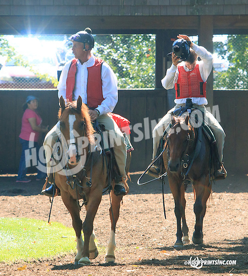 Lance and Colby before The Kent Stakes (gr 3) at Delaware Park on 7/18/15