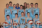 CHAMPIONS: St. Bridget's Basketball team that won the Kerry Under 16 Cup defeating Limerick Lakers in Tralee on Sunday last..Front L/r. Stephen Mannix, Gearoid McCarthy, Denis Lenihan (cpt), Padraig O'Shea, Tommy McCarthy..Second row L/r. Redmond Burke, Seamus Brosnan, Padraig Brosnan, Mike Hannafin, JJ Hanrahan..Back L/r. Sean McCarthy, Michea?l Cahill (Coach), Mike Cronin (Coach) and Declan Breen.   Copyright Kerry's Eye 2008