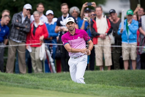 25th June 2017, Golf, Moosinning, Germany;  Spanish  Sergio Garcia in action at the men's singles 4th round at the International Open European Tour in Moosinning, Germany, 25 June 2017.