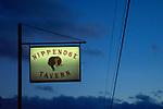 Nippenose Valley Tavern sign at night