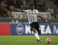 Calcio, Serie A: Milan vs Juventus. Milano, stadio San Siro, 9 aprile 2016. <br /> Juventus&rsquo; Paul Pogba in action during the Italian Serie A football match between AC Milan and Juventus at Milan's San Siro stadium, 9 April 2016.<br /> UPDATE IMAGES PRESS/Isabella Bonotto