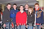 GREYHOUND FUN: Enjoying the fun at the Kingdom Greyhound Stadium on Friday l-r: Eoin Holly, Stephen Foley, Killian O'Carroll, Padraig Lyons, Elaine McCarthy and Kevin O'Neill, Lisselton...