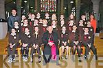 Students from Gaelscoil Mhic Easmainn who were confirmed by Bishop Bill Murphy at Saint Johns Church, Tralee on Friday..Maistir Deaglan O Cuill, Saoirse Ni Chofaigh, Aislinn Ni Cheannain,  Shane O Suilleabhain, Anna Ni Chonchuir, Meabh Nic Iomhargain, Roisin Ni Churrain, Diarmuid O Conchuir,Cait Ui Chonchuir (Priomhoide).Siun Ni Mhuircheartaigh, Dylan O Cathasaigh, Padraig O Luanaigh, Gearoid O Siochain, Muireann Ni Mhuircheartaigh, Ronan O Foghlu, Donagh Mac Iomhargain, Ryan O Neill,.Melanie Nic Piarais, Caoimhe De Mordha, Nora Ni Chonaill, Cait Nic Giolla Gunna, Vanessa Piwowarczyk, Darragh O Muirthile.