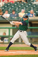 Charlotte left fielder Scott Podsednik (22) follows through on his swing versus Louisville at Louisville Slugger Field in Louisville, KY, Wednesday, June 6, 2007.