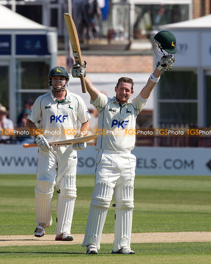 Riki Wessels, Nottinghamshire CCC acknowledges his century - Sussex CCC vs Nottinghamshire CCC - LV County Championship Division One Cricket at The Probiz County Ground, Eaton Road, Hove - 26/05/12 - MANDATORY CREDIT: Ray Lawrence/TGSPHOTO - Self billing applies where appropriate - 0845 094 6026 - contact@tgsphoto.co.uk - NO UNPAID USE.