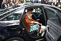 Franca Sozzani, Italian journalist and the editor-in-chief of Vogue Italia, arrives with her pet at Armani theatre where takes place Armani fashion show during annual Milan Fashion Week, Milan 23 Sept. 2016. © Carlo Cerchioli
