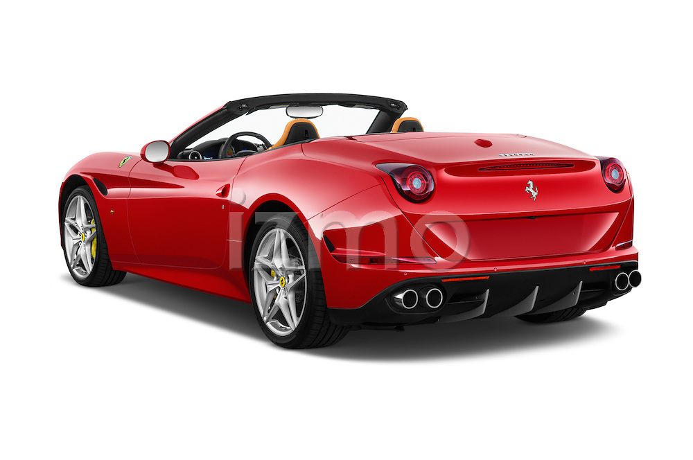 Car pictures of rear three quarter view of 2015 Ferrari California T 2 Door Convertible Angular Rear