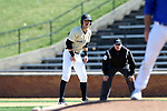 WINSTON-SALEM, NC - MARCH 04: Wake Forest's Patrick Frick. The Wake Forest University Demon Deacons hosted the UMass Lowell River Hawks on March 4, 2018, at David F. Couch Ballpark in Winston-Salem, NC in a Division I College Baseball game. Wake Forest won the game 14-7.