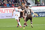 Aziz Bouhaddouz (Nr.11, SV Sandhausen) im Duell gegen Luca Zander (Nr.19, FC St. Pauli) beim Spiel in der 2. Bundesliga, SV Sandhausen - FC St. Pauli.<br /> <br /> Foto © PIX-Sportfotos *** Foto ist honorarpflichtig! *** Auf Anfrage in hoeherer Qualitaet/Aufloesung. Belegexemplar erbeten. Veroeffentlichung ausschliesslich fuer journalistisch-publizistische Zwecke. For editorial use only. For editorial use only. DFL regulations prohibit any use of photographs as image sequences and/or quasi-video.