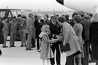 ANDREWS AIR FORCE BASE, MARYLAND (MD) UNITED STATES OF AMERICA (USA) - 27 Jan 1981 - Americans recently released from Iran, where they were held hostage, are greeted by their families upon arrival at the base.<br /> <br /> DON KORALEWSKI Date Shot: 27 Jan 1981